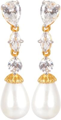 AGRIM Dangle and Drop Zircon EARRING Brass Dangle Earring
