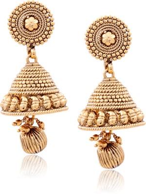 Prisha ATGOL1998 Zircon Copper Jhumki Earring