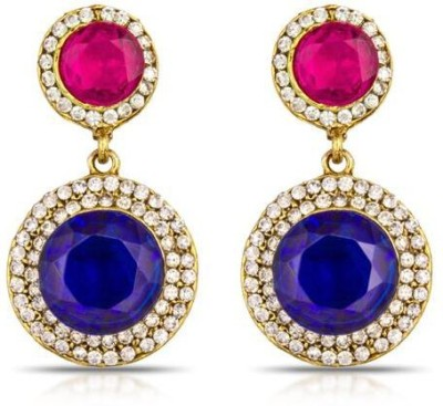 Luxor Pretty Pink and Blue Designer Alloy Drop Earring