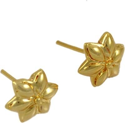 My Sara ear rings for girls fancy in golden color in copper Brass Stud Earring