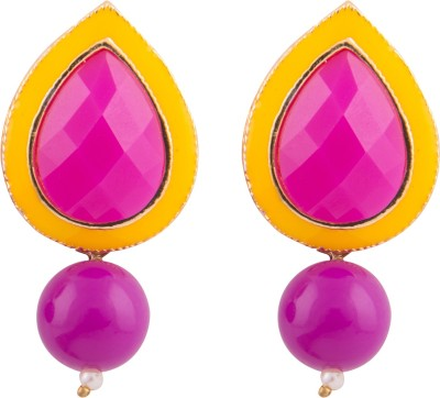 Kshitij Jewels Color Blast Alloy Drop Earring