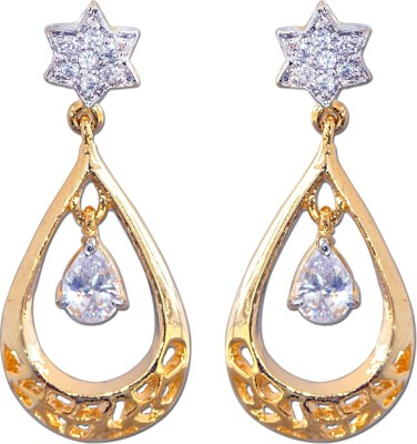 Enzy Stylish High Quality Cz with White Stone Alloy Drop Earring