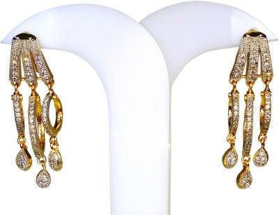 AVSM Creations Triple Rings Design Alloy Drop Earring