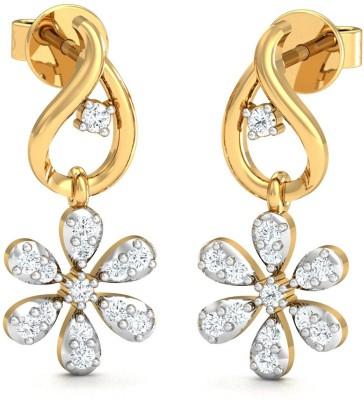 Stylori Fizree Drops Yellow Gold 18kt Diamond Stud Earring