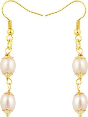 Pearlz Ocean Joyful Pearl Alloy Dangle Earring