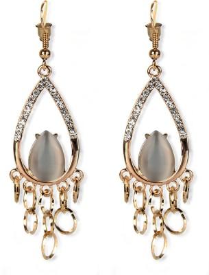 Aimez Crystal Tassel Metal Tassel Earring