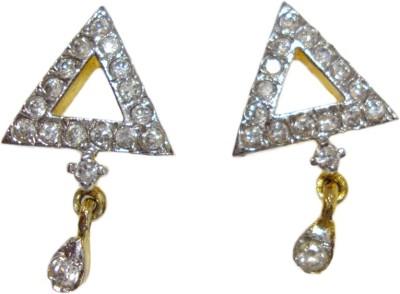 Paridhi Jewels Triangle delight Cubic Zirconia Alloy Stud Earring