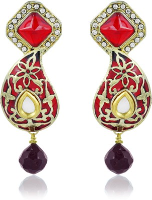BoBell Crafted Mango Indian Copper Drop Earring