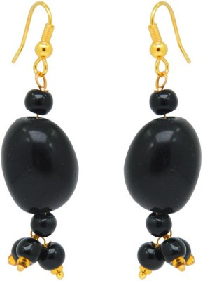 Jaipur Mart Black Stone Cheap Light Weight your love Brass Drop Earring