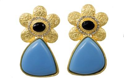Jewelskaro Antique Blue Copper Dangle Earring