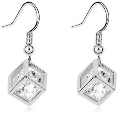 Silver Shoppee Designer Crystal Alloy Dangle Earring