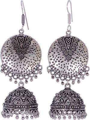 Silvery ME-16-MN Metal Jhumki Earring
