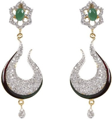 Esoft Exclusive Stone Studded Accessories Copper Drop Earring
