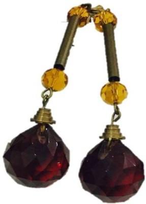 Siete Danglers Gold Alloy Drop Earring
