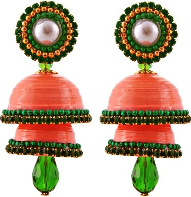 Halowishes EAR160 Paper Jhumki Earring