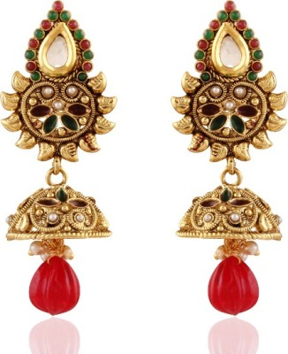 Panini Spring Sprakle Brass Jhumki Earring