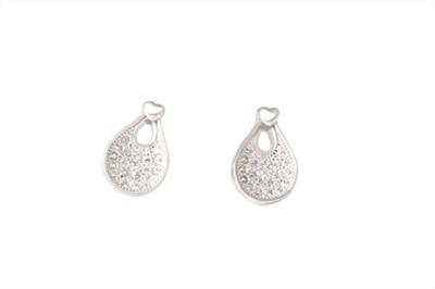 TUAN Western wear Diamond, Cubic Zirconia Sterling Silver Stud Earring