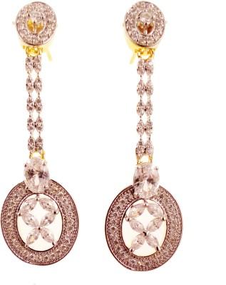 Ojas Jewels Simply Elegant Zircon Alloy Earring Set