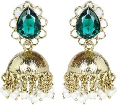 the jewelbox Cute Jhumki Cubic Zirconia Copper Jhumki Earring