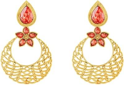 Art Nouveau Traditional Brass Chandelier Earring