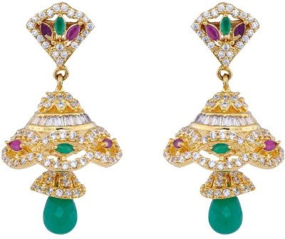 Jewlot Stunning AD 1094 Brass Jhumki Earring