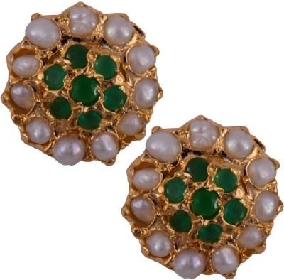 Mahaveer Pearls Multi-colored Fashion Brass Stud Earring