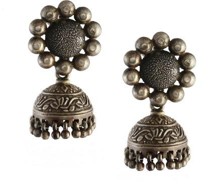Silvery JkEr-13 Silver Jhumki Earring