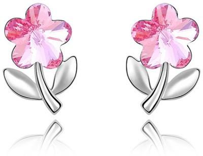 Womanwa Pretty Flower Metal Stud Earring