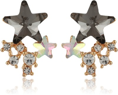 Moedbuille Fashionable And Trendy Star Shaped CZ Encrusted Alloy Drop Earring