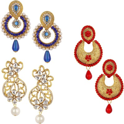 Jewels Guru Diva Style Zircon Alloy Earring Set