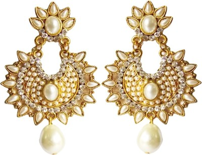 Simbright Cubic Zirconia Alloy Jhumki Earring