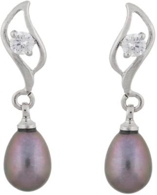 Classique Designer Jewellery Leaf Shape Pearl Alloy Drop Earring