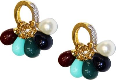 Amarsons Pearls A.D Changeable Bali Alloy Drop Earring