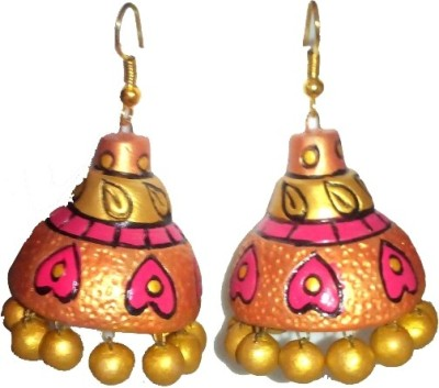 Aanya Creations Handmade Jhumka Terracotta Jhumki Earring