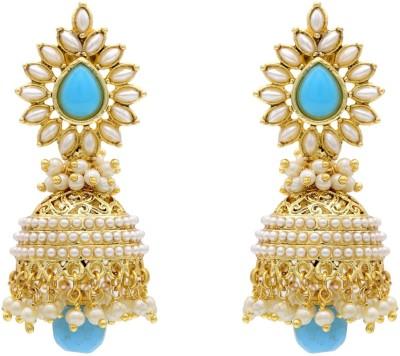 Hyderabad Jewels Pearl Copper Jhumki Earring