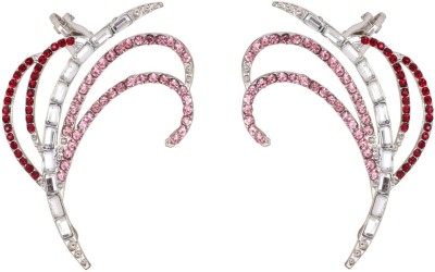 Crunchy Fashion Sparkles Of Pink Alloy Cuff Earring