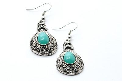 Zidox Zidox turquoise colored stone sterling Alloy Dangle Earring