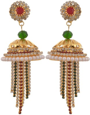 Blacksmith All Day Wear Crystal Metal Jhumki Earring
