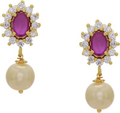 Prisha ADEAR841 Zircon Copper Drop Earring