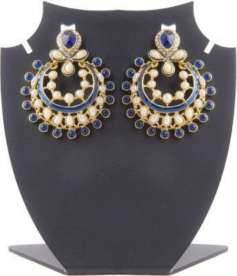 Aaina Home Decor Deepika Padukon Cubic Zirconia Copper Chandbali Earring