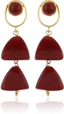 Thingalicious Pyramid Double Alloy Drop Earring