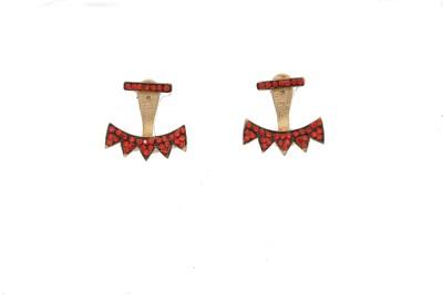 Arohi Jewells & Gems AJG108 Copper Earring Set