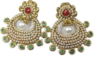 Navisha Rajwada Style Metal Chandbali Earring