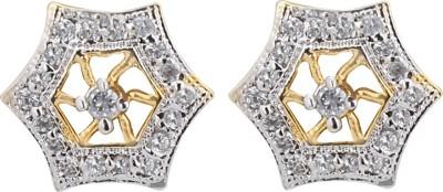 Eloiny AD Two Tone Cubic Zirconia Brass, Alloy Stud Earring