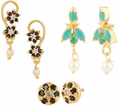 Parinaaz Style Diva Cubic Zirconia Alloy Earring Set