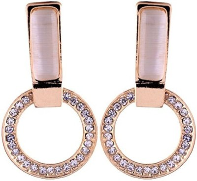 Gliteri loop style Moonstone Alloy Drop Earring