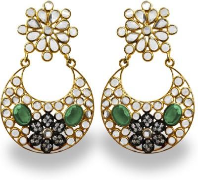 SuvidhaArts Stunning Fashion Cubic Zirconia Metal Chandbali Earring
