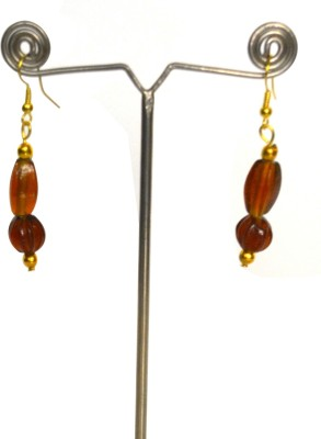 Deal And Gift Attractive Orange Glass Dangle Earring
