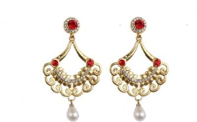 Aashvi Creation Crystal Cubic Zirconia Alloy Chandelier Earring