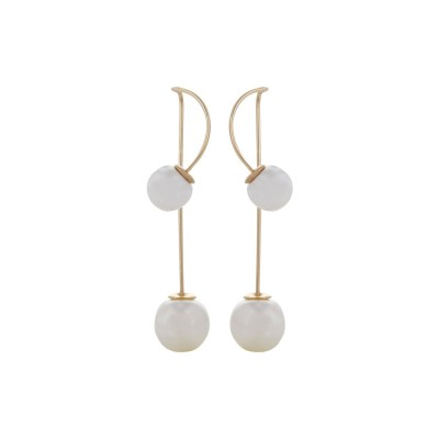 Fayon Chic Stylish White Pearl Pearl Alloy Drop Earring